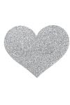 Bijoux de seins Flash Coeur Argent