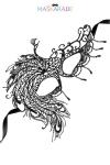 Loup broderie souple crepuscule