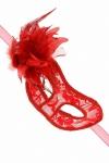 Loup semi-rigide La Traviata - rouge