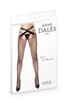 Collant résille ouvert noir Flavia - Anne d'Alès