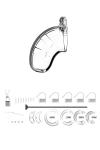 Cage de chasteté 6,5cm avec plug d'urètre - ManCage 15