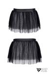 Mini jupe noire en maille transparente - Regnes