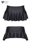 Mini jupe taille basse noire - Regnes