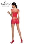 Robe nue résille BS090 - Rouge