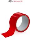 Ruban de soumission rouge 15m - Fétish Tentation