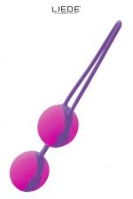 Love balls rose et fuchsia - Liebe : Boules de geisha 100% silicone Premium, pour muscler les muscles vaginaux tout en se faisant plaisir en toute discrétion.