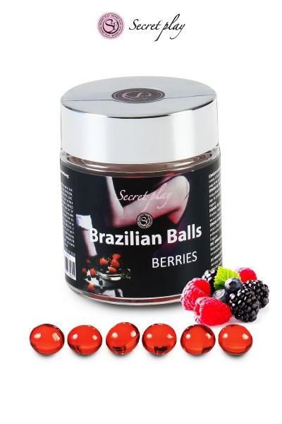 6 Brazilian Balls - baies rouges