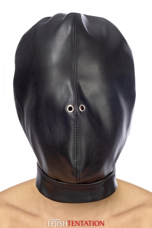 Cagoule BDSM fermée simili cuir - Fetish Tentation