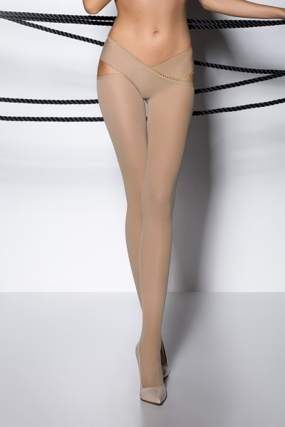 Collants ouverts TI005 - beige