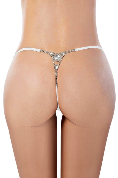 String blanc avec strass - Paris Hollywood