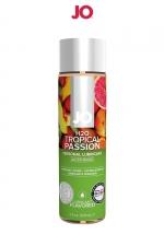 Lubrifiant aromatisé fruits exotiques 120 ml : Lubrifiant aromatisé comestible parfum fruits exotiques au format 120 ml de la marque Américaine System Jo.