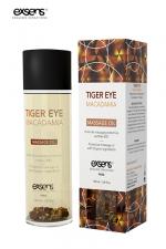 Huile massage BIO Oeil de Tigre Macadamia - Exsens : huile de massage protectrice certifiée Bio à l'Oeil de Tigre et à l'huile de Macadamia, par Exsens.