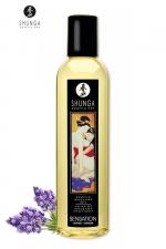 Huile de massage érotique - Lavande : Huile de massage érotique Sensation à la lavande pour éveiller les sens et la réceptivité amoureuse, par Shunga.