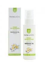 Huile de massage BIO Monoi - Divinextases : Huile de massage érotique parfum monoï 100% bio, fabriquée en France par Divinextases.