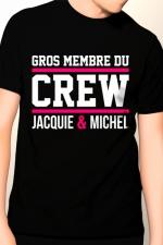 Tee-shirt Gros membre Jacquie et Michel : T-shirt humoristique Jacquie et Michel pour bien montrer qu'il y a du lourd sous le capot !