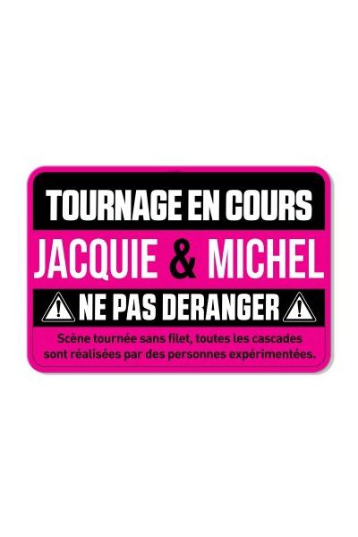 Plaque de porte J&M Tournage en cours