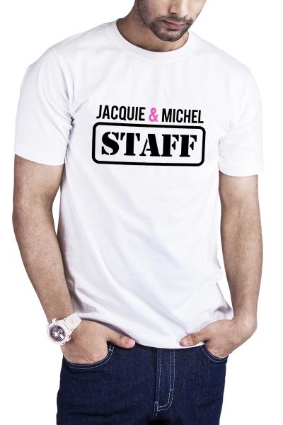 T-shirt Jacquie et Michel Staff - blanc