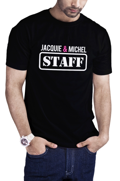 T-shirt Jacquie et Michel Staff - noir