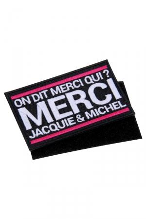 Ecusson rectangle velcro Jacquie et Michel