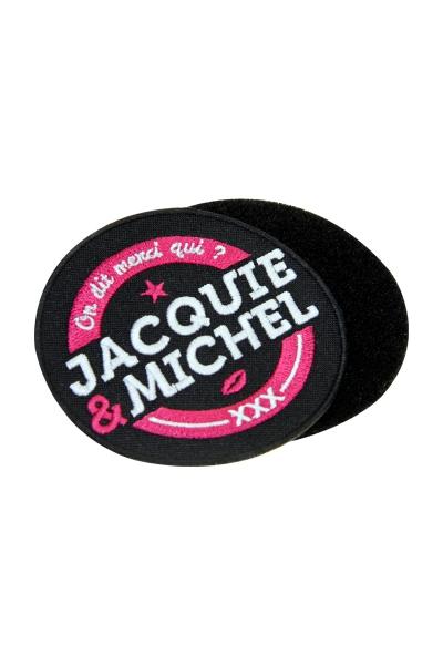 Ecusson rond velcro Jacquie et Michel