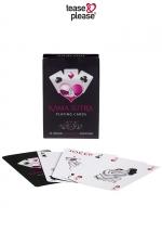 Jeux de cartes Kamasutra : Jeu de cartes au design chic avec la représentation stylisée d'une position du Kama Sutra sur chacune des 54 cartes.