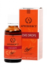 Stimulant sexuel Aphrodict Love Drops : Complément alimentaire aphrodisiaque à base de plantes conçu pour augmenter la libido et le plaisir des couples.