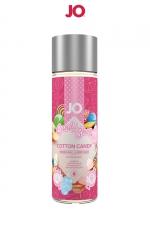 Lubrifiant aromatisé Barbe à papa 60 ml : Lubrifiant aromatisé comestible parfum Barbe à papa au format 60 ml de la marque Américaine System Jo.