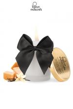 Bougie de massage Caramel : Superbe bougie se transformant en huile tiède au doux parfum Caramel par Bijoux Indiscrets.