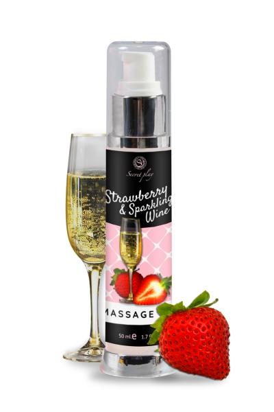 Huile de massage fraise et vin pétillant - Secret Play
