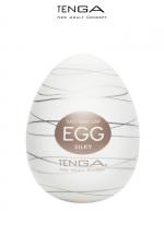Tenga Egg Silky : Masturbateur nouvelle génération avec  nervures en forme de filaments de soie pour vous faire fondre de plaisir.