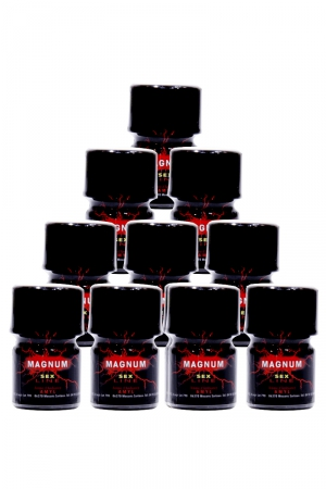 Pack de 10 Poppers Sexline Magnum Rouge