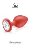 Plug bijou silicone rouge M - Hidden Eden