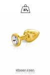 Plug bijou aluminium gold XS - Hidden Eden