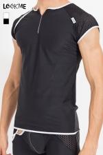 T-Shirt Mixing : Tee shirt pour homme en résille large et lycra, à combiner avec la gamme de lingerie Mixing pour un style parfait.