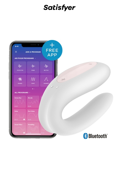 Stimulateur Double Joy blanc - Satisfyer