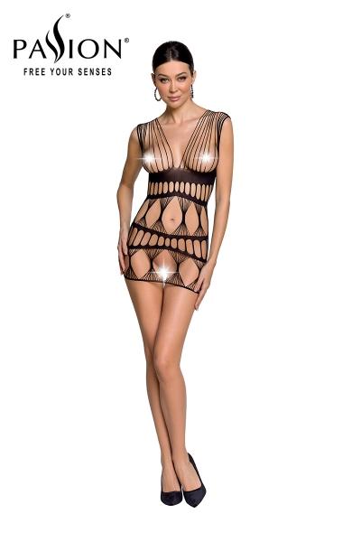 Robe nue résille BS089 - Noir